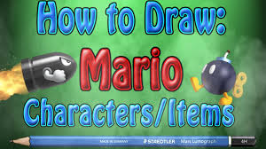 draw mario characters