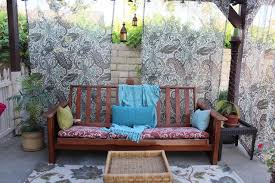 patio couch made with an old futon frame foam waterproof board