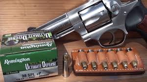 38 p remington ultimate defense ballistic gel test gp100 youtube