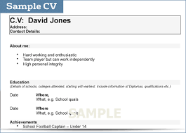Simple Resume For College Student How To Write A Cv For College Student Sample Cv Gif Thankyou