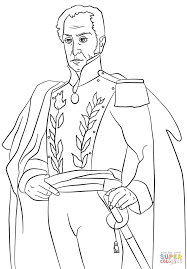 simon bolivar coloring page free printable coloring pages