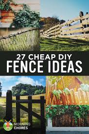 interior charming fencing options 27 diy fence ideas for garden privacy or perimeter temporary