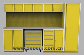 Yellow Metal Storage Cabinet Stainless Steel Garage Cabinets Stainless Steel Tool Cart Workshop