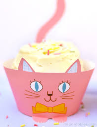 cup cats cupcake wrappers mr printables
