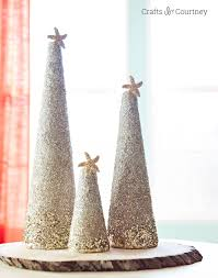 christmas craft diy coastal glitter christmas trees