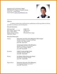 sample resume for ojt students best resume collection