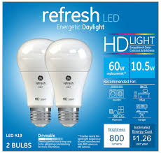 ge hd light refresh amazon com ge lighting refresh led hd 10 5 watt 60 watt