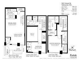 Loft Home Floor Plans Modern Loft Townhouse In Vancouver Small Space Solutions