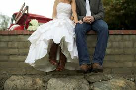 wearing cowboy boots on your wedding day
