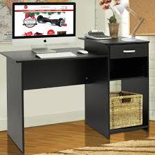 furniture unpolished oak wood computer desk placed on light gray