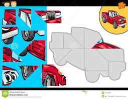cartoon car jigsaw puzzle game stock vector image 36126807