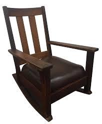 Mission Oak Rocking Chair Limbert Rocker In Antique Mission Oak Chairish