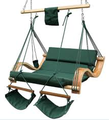 outdoor double person hammock swing lounge chair with simple