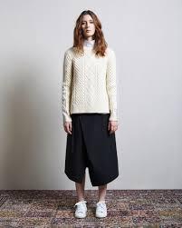 sacai luck sacai luck bi color knit pullover organic by mock