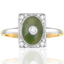 sold exquisite art nouveau jade and diamond ring helen