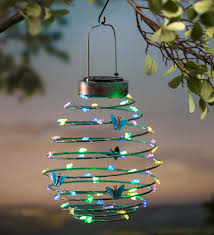 Hanging Solar Lantern Decoration Butterfly Solar Accents Yard