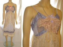 Womens Shabby Chic Clothing by Upcycled Women U0027s Sheer Lace Summer Slip Dress Shabby Chic Country