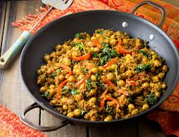 quinoa cuisine indian quinoa and chickpea stir fry eat healthy eat
