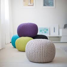 furniture interior accessories by knit pouf ottoman knit pouf
