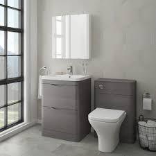 Stone Basin Vanity Unit Monza Modern Stone Grey Sink Vanity Unit Toilet Package