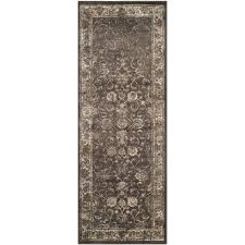 Rubber Backed Bathroom Rugs by Ottomanson Solid Design Gray 2 Ft 2 In X 6 Ft Non Slip Bathroom