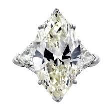marquise cut diamond ring 10 carat marquise cut diamond engagement ring with trillions for