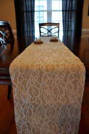 decor lace table runners burlap table runner with lace bed