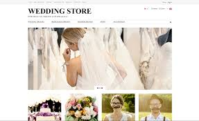 wedding dresses template store drop shiping business website for