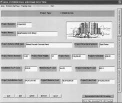 computer integrated system for estimating the costs of building