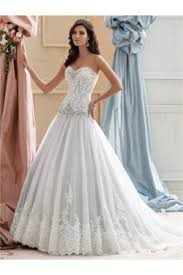 dropped waist wedding dress gown square neck drop waist lace beaded organza modest