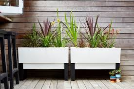 urban garden planter box modern planters for use indoors or outside
