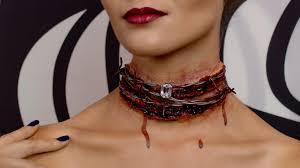 halloween bloody diamond necklace sfx youtube