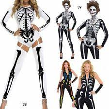 Skeleton Woman Halloween Costume Womens Skeleton Costume Ebay