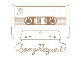 wedding song request cards song request mixtape rsvp card digital design front and