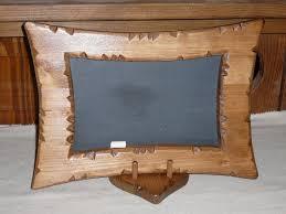 lampe de chevet montagne mémo tableau cadre ardoise école craie bois coeur chalet montagne