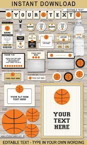 black u0026 gold basketball printables invitations u0026 decorations