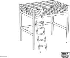 IKEA Beds FJELLDAL FULL LOFT BED PDF Assembly Instruction Free - Ikea bunk bed assembly instructions