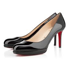 new simple pump 85 black patent women shoes christian louboutin