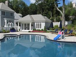 Backyard Pool House by Central Ma Pool House Contractor Elmo Garofoli Construction