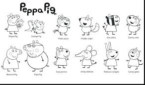 coloring pages peppa the pig pig friends coloring page coloring page peppa pig colouring pictures