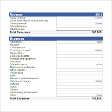 Excel Balance Sheet And Income Statement Template Sle Income Statement Template 9 Free Documents In Pdf Word