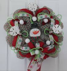 christmas mesh wreaths