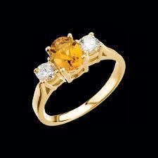 citrine engagement rings lovely citrine diamond ring