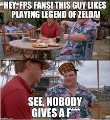 Redshirt Meme - how i feel around non zelda fans guy in red shirt me other guy
