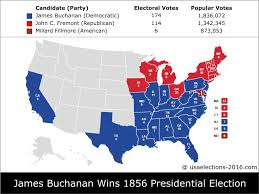2016 Presidential Election Map by 1856 Presidential Election Result James Buchanan Democratic