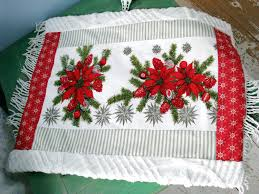 Christmas Table Cloths by New Rug Vintage Christmas Tablecloth Chenille Retro Bath Mat