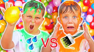 Challenge Water Balloon Water Balloon Challenge Water Vs Real Paint Filled Water Balloon