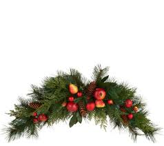 wreaths u0026 garlands u2014 christmas u2014 holiday u2014 for the home u2014 qvc com