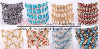 wholesale ribbon rhinestone trim ribbon wholesale