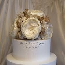 burlap cake toppers shop burlap and lace cake topper on wanelo